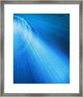 Blue Shower Framed Print by Johann Todesengel