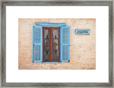 Blue Shutters Framed Print by Jeremy Voisey