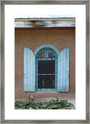 Blue Shutters Framed Print by Jerry McElroy