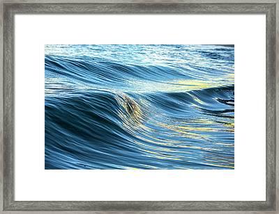 Blue Silk Framed Print