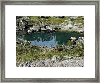 Blue Sink Framed Print by D Hackett