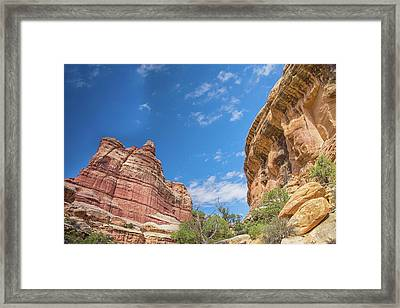 Blue Skies And Deep Canyons Framed Print by Kunal Mehra