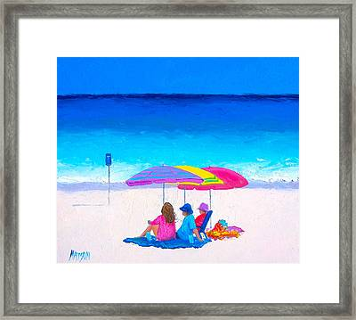 Blue Skies Clear Water Framed Print