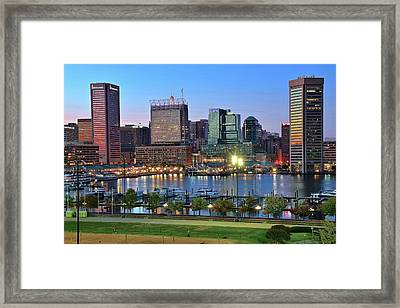 Blue Skies In Baltimore Framed Print by Frozen in Time Fine Art Photography