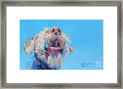 Blue Skies Framed Print by Kimberly Santini