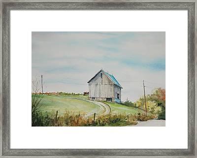 Blue Skies Framed Print by Mike Yazel