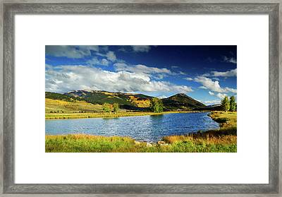 Framed Print featuring the photograph Blue Skies Over Crested Butte by John De Bord
