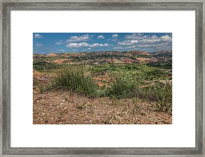 Blue Skies Over Palo Duro Canyon Framed Print