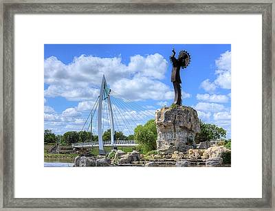 Blue Skies Over Wichita Framed Print by JC Findley