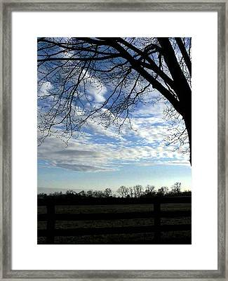 Blue Skies Smiling At Me Framed Print