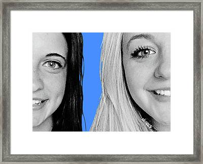 Framed Print featuring the photograph Blue Skies by Tom Dickson