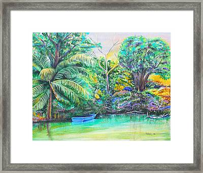 Blue Skiff Framed Print