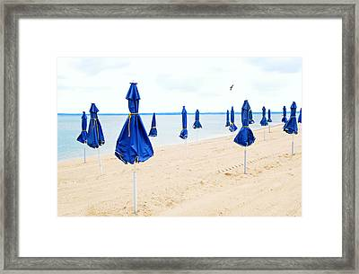 Blue Skirted Ladies Framed Print