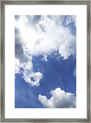 Blue Sky And Cloud Framed Print