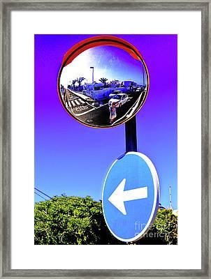 Eyeball In The Sky Framed Print by Wilf Doyle