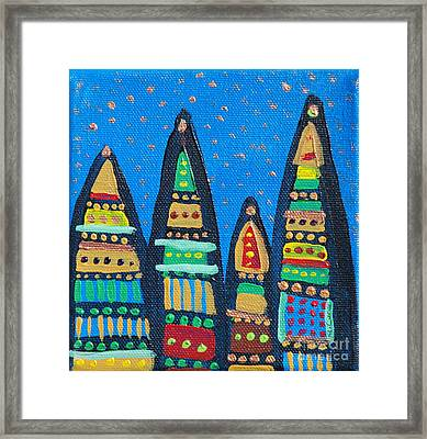 Blue Sky Catherdrals Framed Print by Maria Curcic