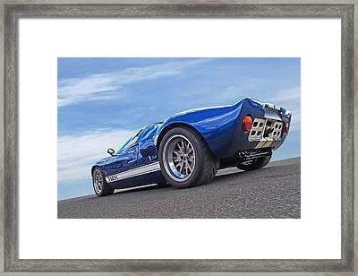 Blue Sky Day - Ford Gt 40 Framed Print
