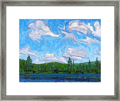 Blue Sky Lake Framed Print by Phil Chadwick