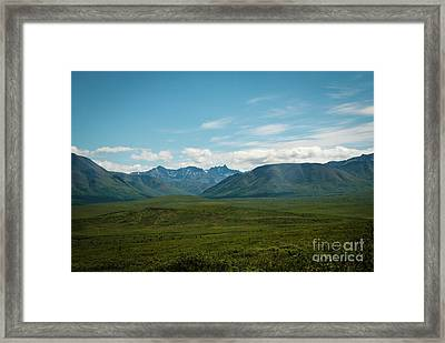 Blue Sky Mountians Framed Print
