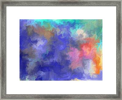 Blue Sky Painting Framed Print by Don  Wright