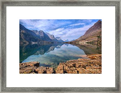 Blue Sky Reflections In St. Mary Framed Print