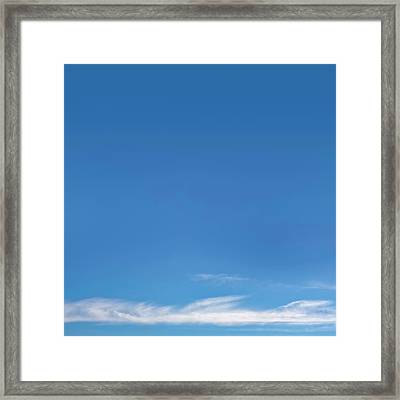 Blue Sky Framed Print by Scott Norris