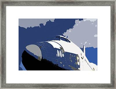 Blue Sky Shuttle Framed Print by David Lee Thompson