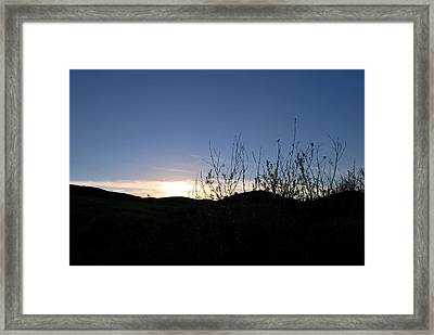 Framed Print featuring the photograph Blue Sky Silhouette Landscape by Matt Harang