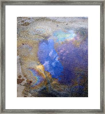 Blue Sky Slick Framed Print