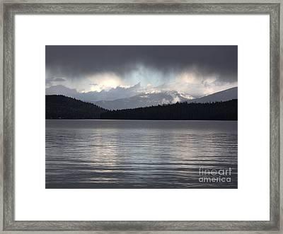 Blue Sky Through Dark Clouds Framed Print by Carol Groenen
