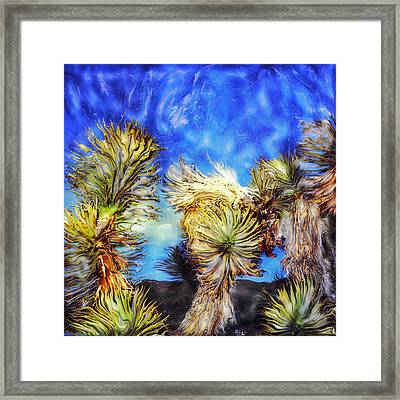 Blue Sky Yucca Framed Print by Paul Tokarski