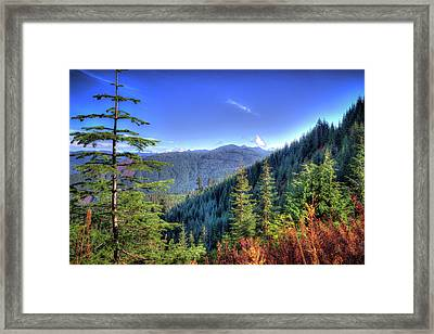 Framed Print featuring the photograph Blue Skykomish by Spencer McDonald