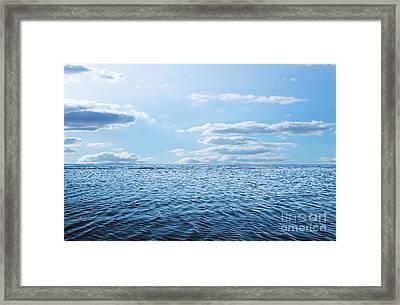 Blue Sky,sun And Sea Framed Print by Caio Caldas