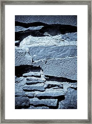 Blue Slate - Abstract Framed Print