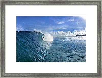 Blue Sling Framed Print by Sean Davey