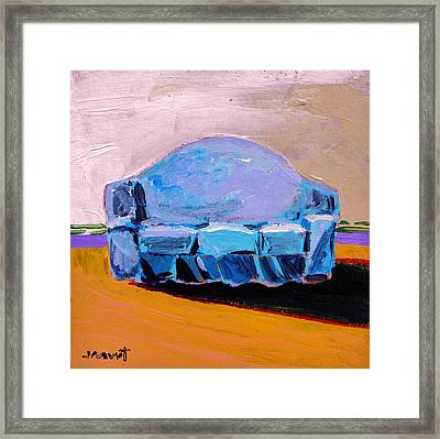Framed Print featuring the painting Blue Slipcover by John Williams