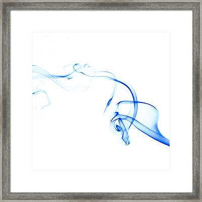 Blue Smoke Framed Print by Scott Norris