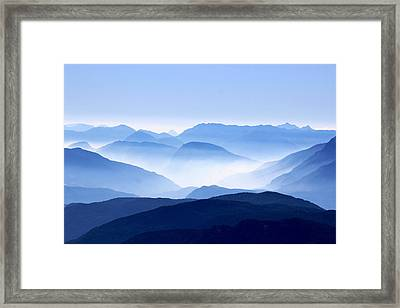 Blue Smoky Mountains Framed Print by Design Turnpike