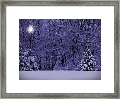 Framed Print featuring the photograph Blue Snow by David Dehner