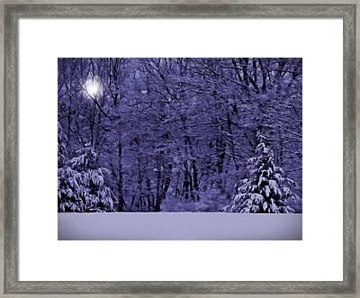 Blue Snow Framed Print by David Dehner