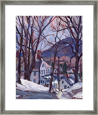 Blue Snow Framed Print