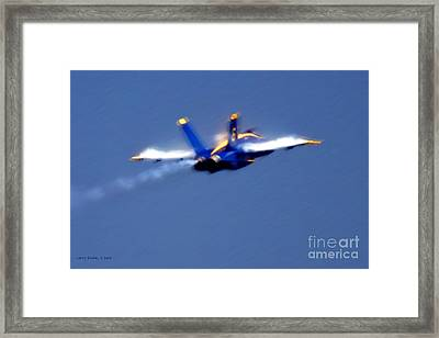 Framed Print featuring the photograph Blue Solo by Larry Keahey