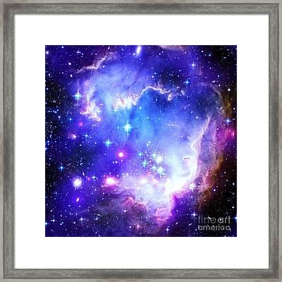 Blue Space Framed Print