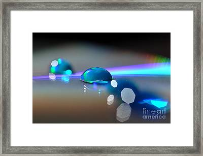 Framed Print featuring the photograph Blue Sparks by Sylvie Leandre