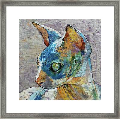 Blue Sphynx Framed Print by Michael Creese