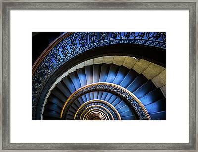 Blue Spiral Framed Print