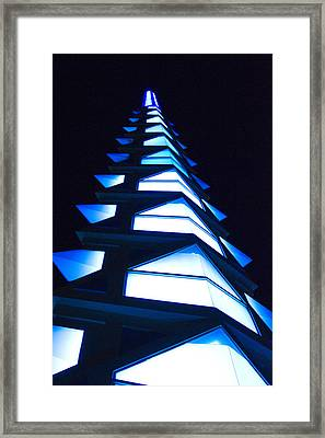 Blue Spire Framed Print