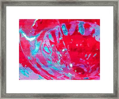Blue Splash Framed Print