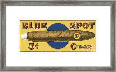 Blue Spot Cigars Framed Print by Priscilla Wolfe