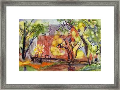 Blue Springs Mill Framed Print by Patricia Bigelow